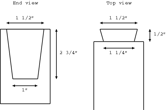 dovetail template maker - neck dovetail joint
