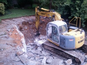 Cement chunks